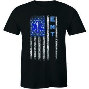 Emergency Medical Technician Men EMT Flag T-shirt